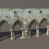 castle ruin modelled 3d 3ds