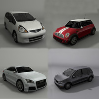 cars honda fit 3d model
