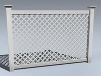 3d model vinyl fence