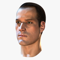 male head rendering 3d model