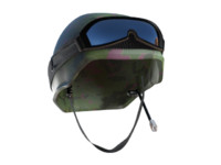 army helmet visor 3d model