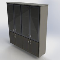 3d office cabinet furniture model