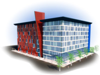 3d model office block