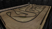 rc car race track 3d model
