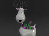 deer reindeer 3d max