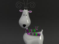 deer reindeer 3d max