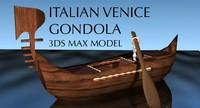 Italian Venice Gondola Boat
