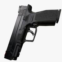 3d model hs2000 pistol