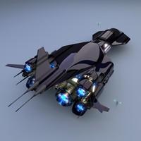 3d space yacht model