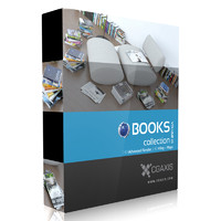 3d model of volume 23 books magazines