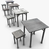 camp table 3d model