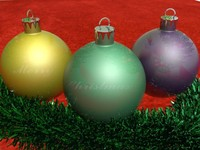 free christmas baubles 3d model