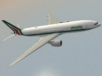 3d max b 777-200 er alitalia
