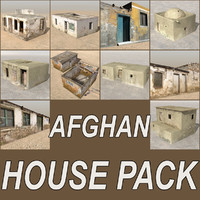 afghan houses cottages 3d model