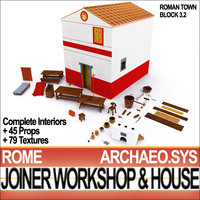 Ancient Roman Town Joiner Workshop House 3.2