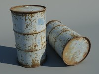 rusted barrel 3d max