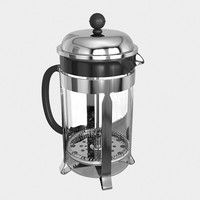 french press coffeemaker 3d model