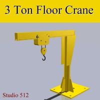 3d floor crane model