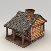 3d model rural house