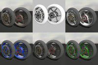 Motorcycle Wheel and Tire