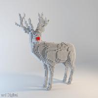 pixel reindeer 3d max