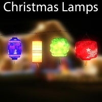 3ds max christmas lamps