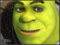 3d shrek photorealistic pixar