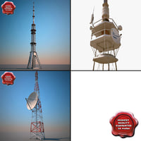 telecommunication towers 2 3d max