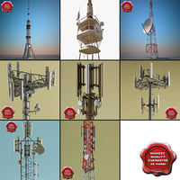 Telecommunication Towers Collection 3