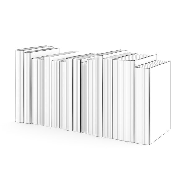 book set paper 3d model - CGAxis Models Volume 23 Books VRay... by cgaxis