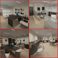 office design furniture 3d model