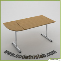 3dsmax galant table desk combined