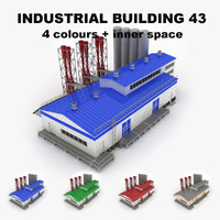 3d max medium industrial building 43