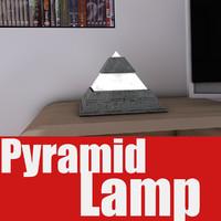 3d model pyramid lamp