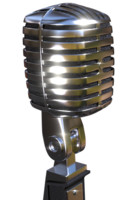 old microphone 3d obj