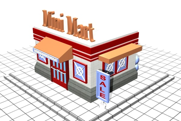 3d model of mini mart - mini mart... by Hect06