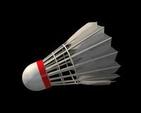 3d model badminton shuttlecock