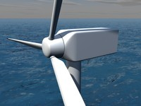 3d model offshore wind power plant