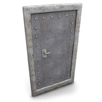 Metal Basement Door (2)
