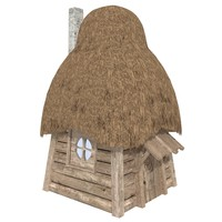 3d fantasy house log cabin model