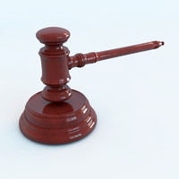 auction law gavel - 3d obj