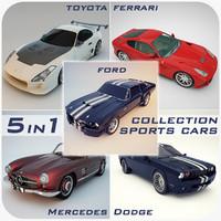 sports cars 1 3d max