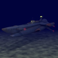 captain submarine 3d c4d