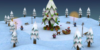 3d christmas package model
