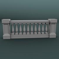 3d balustrade architectural model