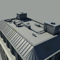 3d model roof unit