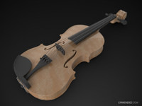 solidworks violin 3d model