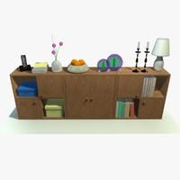 cabinet decor 3d c4d