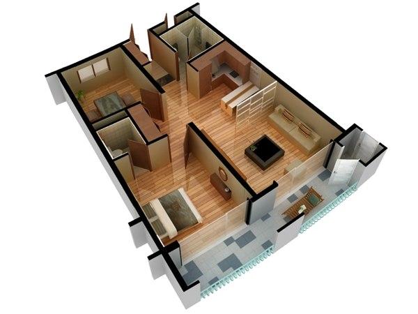 3d Model Of Floor Plan Doll House