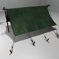 3d model pup tent